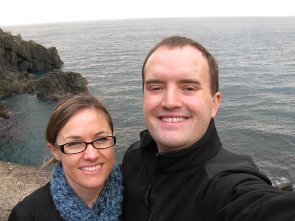 Bryan and me in the Cinque Terre in Italy.